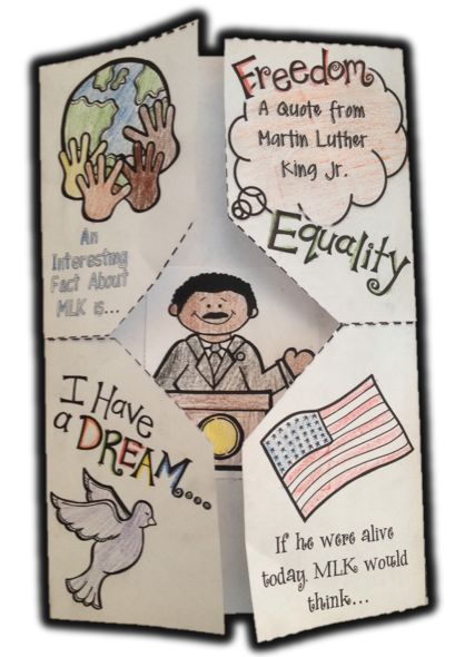 MLK Martin Luther King Day Foldable *Freebie* Pack ~Teachers with APPtitude