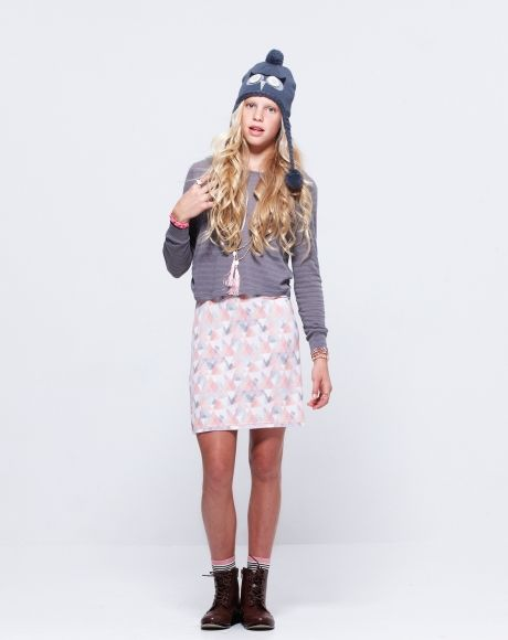 PAVEMENT BRANDS - BLOSSOM DRESS + ANNA LACE UP BOOTS #tween #fashion #clothing #dress #layers #necklace #hat #owl #boots #winter