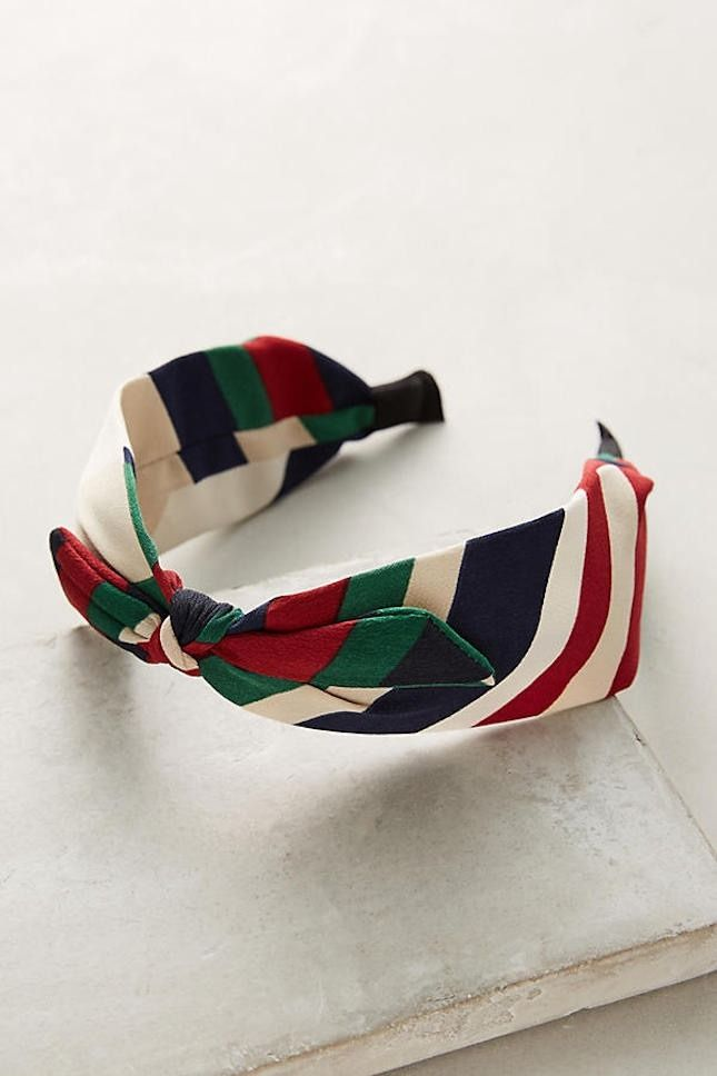 Loving this striped headband perfect for warm weather.