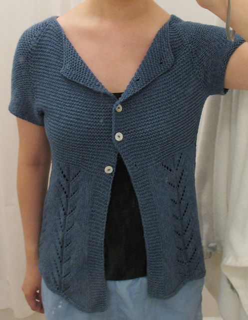 Ravelry: CatusGabrielis' Little Spring Cardi - summer knit in rowan