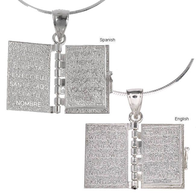 Journee Collection Sterling Silver Prayer Box Necklace