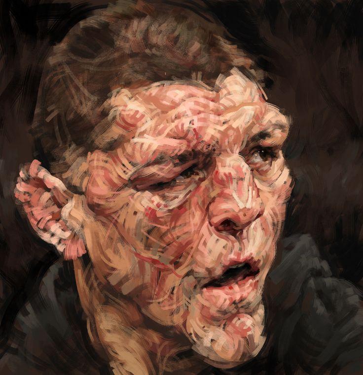 Digital painting.  Stylized portrait illustration by Lindsey Lively.  Watch the process video here: http://youtu.be/V7xupZMne0E