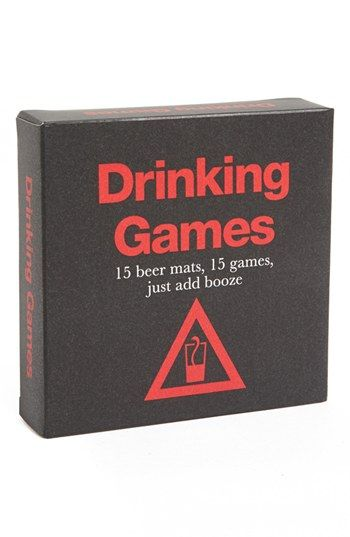 Ryland Peters & Small 'Drinking Games' Coasters available at #Nordstrom How Fun!!!