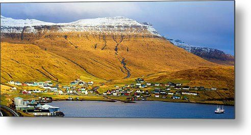#FaroeIslands #WinterLandscape #Coastal #panoramic #panorama #Winterphotography #Landscape #Seascape by #TravelGallery #Winter #photography #Icelandphotography  #Winter#SeascapePhoto #Nature #Snow #snowphotography #panoramic #photography #bluewallart #fjord #travelhotography #nauticaldecor