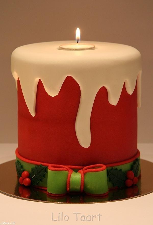 @KatieSheaDesign ♡❤ Christmas Candle Cake