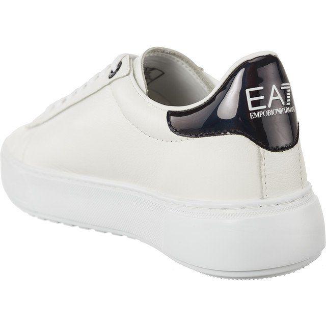 Sportowe Damskie Ea7emporioarmani Ea7 Emporio Armani Biale Ea7 Emporio Armani Unisex Pelle Sneaker White Sneaker Sneakers Shoes