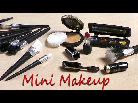 Miniature Makeup & Brushes - Polymer Clay Tutorial - YouTube