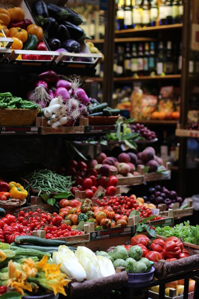Vegetable market in Florence, Italy