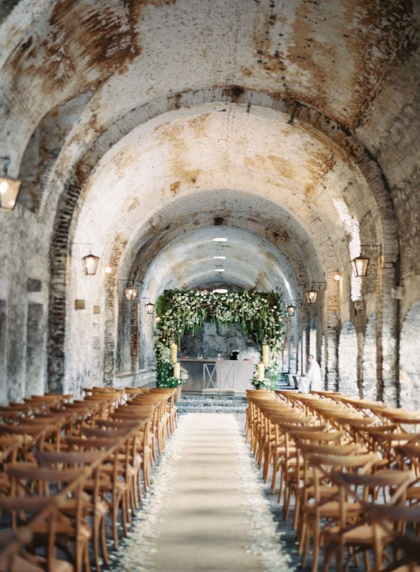 FOR THE CEREMONY || Rustic wedding in Mexico in stone tunnel || Novela...where the modern romantics play and plan the most stylish weddings...instagram: @novelabride www.novelabride.com