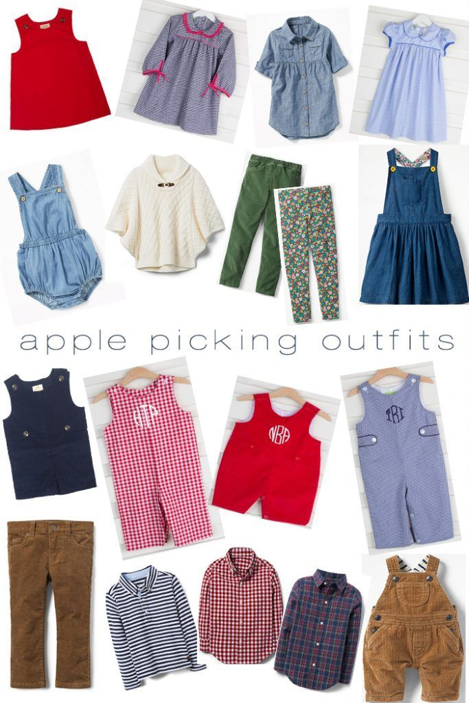 3209818165 Adorable Fall Outfits for Apple Picking - The Chirping Moms Click here for  links to tons of great fall clothes ideas for kids!
