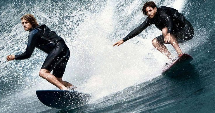 'Point Break' Remake Poster & Surf Action Featurette -- Johnny Utah and Bodhi catch some waves in a new poster and action-packed featurette for 'Point Break'. -- http://movieweb.com/point-break-2015-remake-poster-surf-featurette/