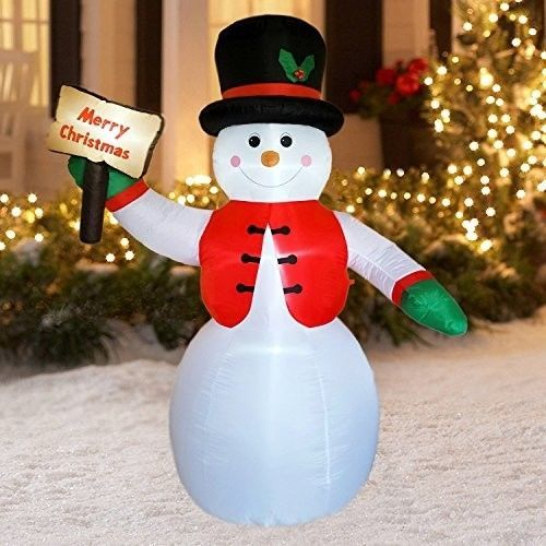Christmas Snowman Airblown Inflatable 8.5 Ft Yard Waterproof Lighted Xmas Decor #easy_shopping08