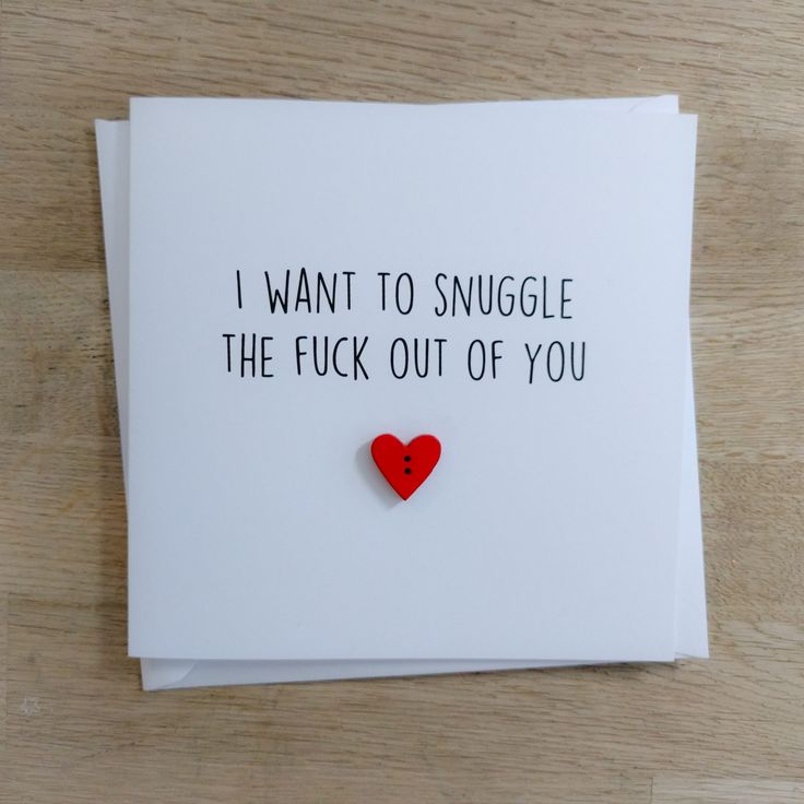"Funny rude ""Snuggle you"" Valentine's card"