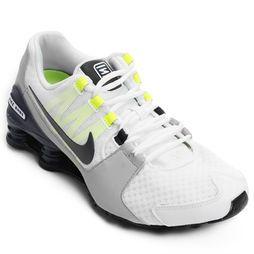Tênis Nike Shox Avenue - Branco+Verde Limão