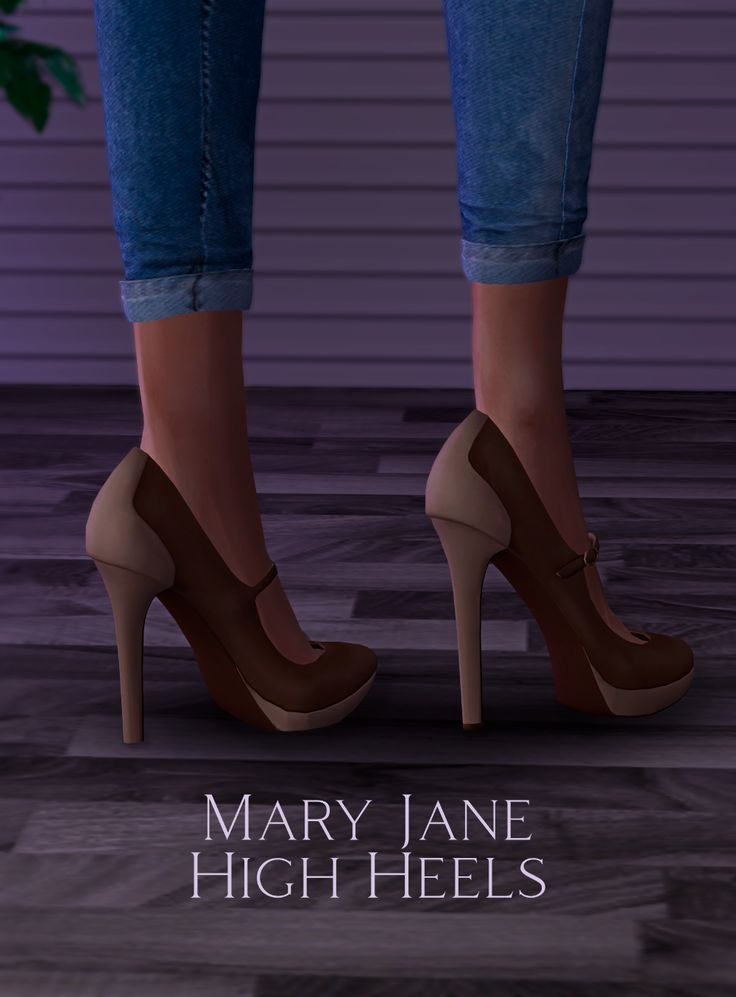 Mary Jane High Heels: With & Without Socks | astya96 on Patreon