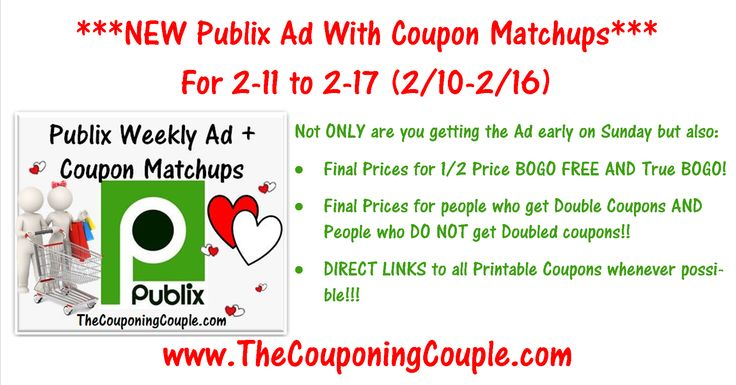 ***GIVE US A HAND AND USE THE SHARE BUTTON BELOW THE PICTURE TO SHARE THIS POST WITH YOUR FAMILY & FRIENDS*** Here is the NEW Publix Ad for 2-11 to 2-17-16 (2/10-2/16 for some) with Coupon Matchups! Click the Picture below to get all of the details ► http://www.thecouponingcouple.com/publix-ad-with-coupon-matchups-for-2-11-to-2-17-16-210-216/  Help us out and use the SHARE button below the Picture to SHARE this post with your Family and Friends!  Not ONLY are you gett