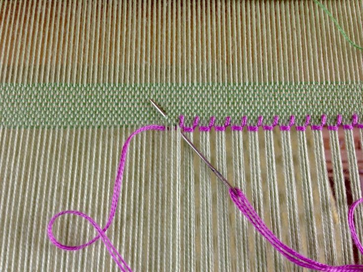 Hemstitching in 4 easy steps. How-to with pics.