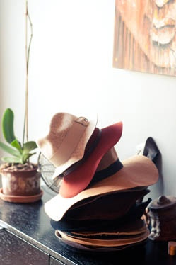 I wish I could pull off hats like these.