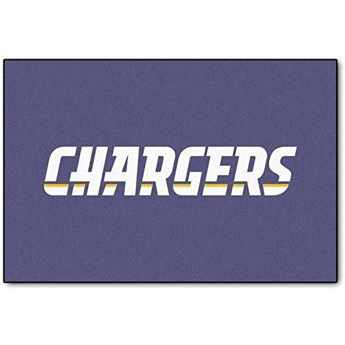 19 X 30 NFL Chargers Door Mat Printed Logo Football Themed Sports Patterned Bathroom Kitchen Outdoor Carpet Area Rug Gift Fan Merchandise Vehicle Team Spirit Blue Gold Nylon
