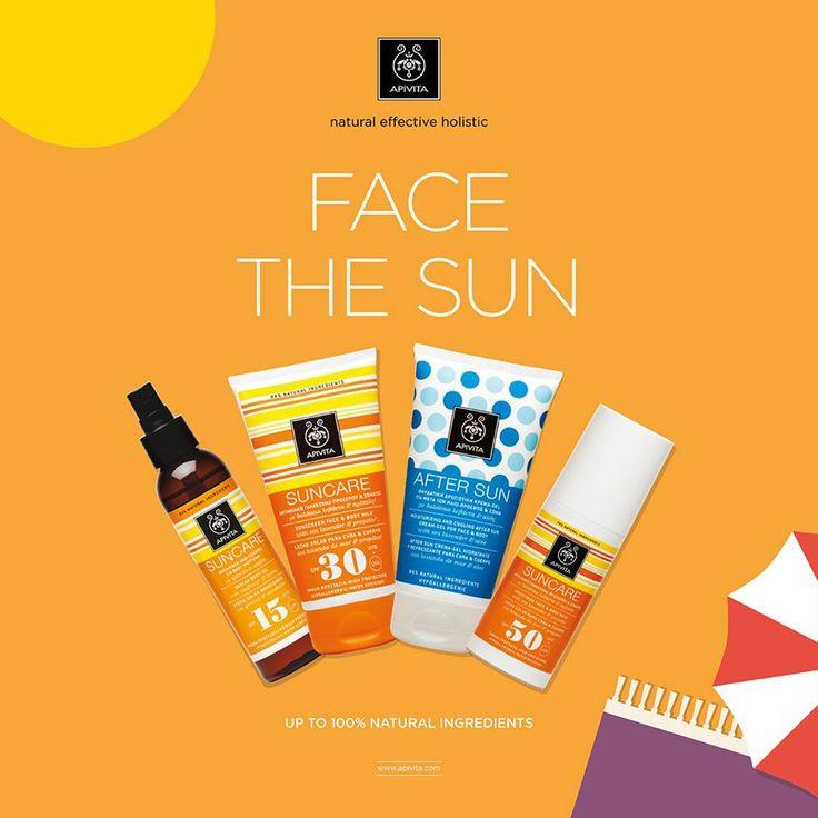 #facethesun naturally #apivita #suncare #apivita_way_of_summer