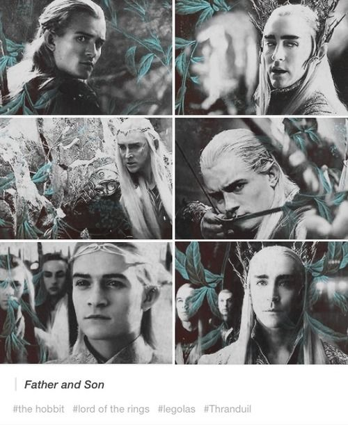 Legolas and Thranduil. Have I pinned this already? Oh well. I'll pin it again. SO MUCH PRETTY!!