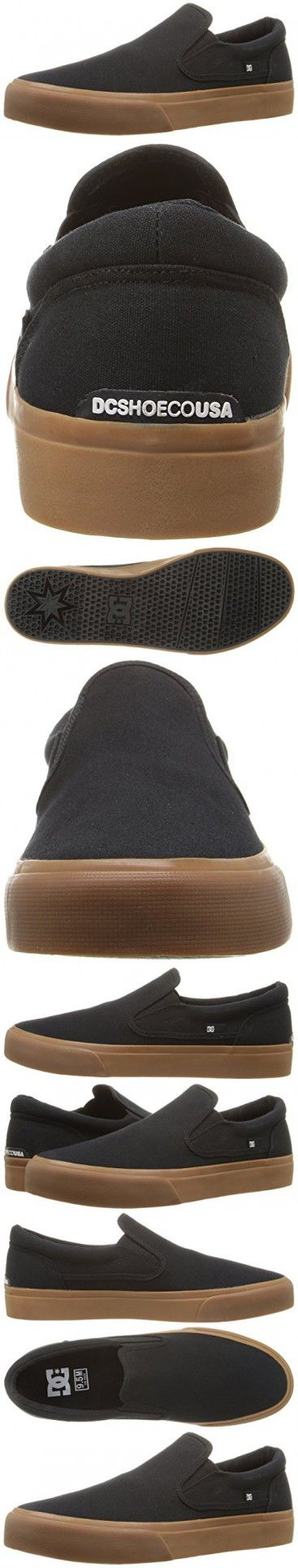 DC Men's Trase Slip-On Tx Skateboarding Shoe, Black/Gum, 9.5 M US