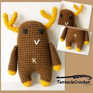 Free Amigurumi Moose Pattern : 17 Best images about Free Moose and Deer Crochet Patterns ...