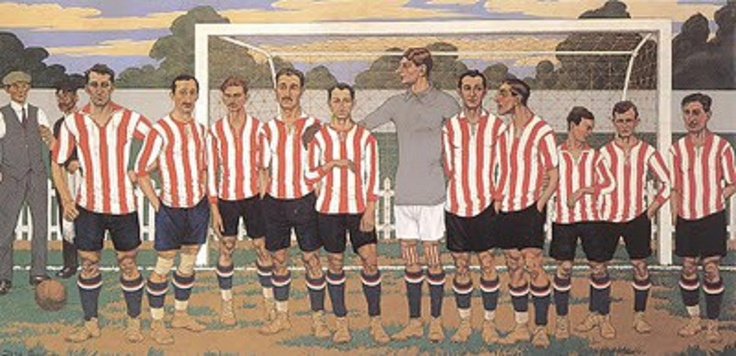 Caricatura del Athletic Club Bilbao, 1939 en plena restructuracipón.