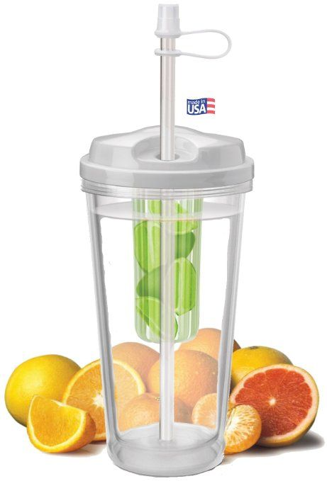 $11.99 Amazon.com: Infuser Water Tumbler, 16 Ounce - BPA Free - Create Your Own Flavored Beverage: Sports & Outdoors