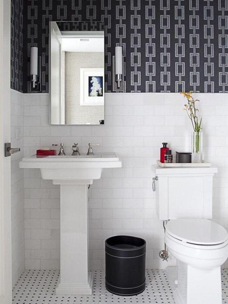 best 25 small bathroom wallpaper ideas on pinterest