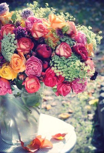 rose centerpiece, love