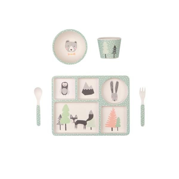 Love Mae - 5 Piece Bamboo Dinner Set - Fox and Friends