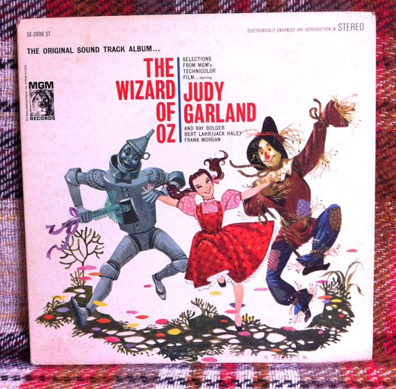 The Wizard of Oz Soundtrack LP Vinyl Record by chezToulouse