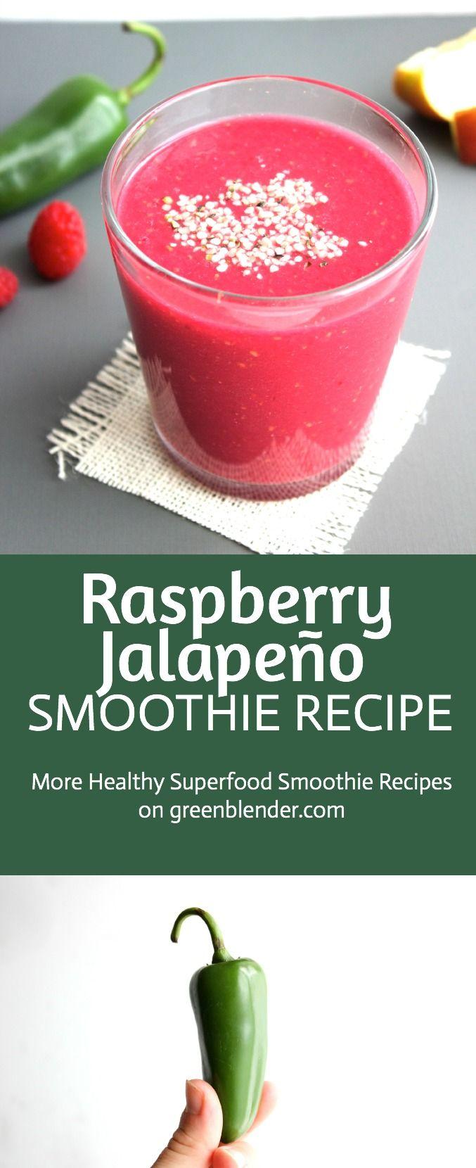 Raspberry Jalapeño Smoothie Recipe by Green Blender