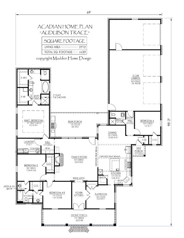 17 best images about house plans on pinterest house for Small acadian house plans