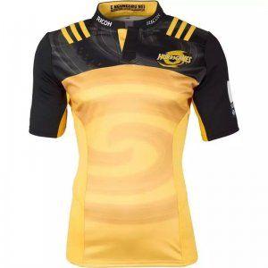 New Zealand Hurricans 2017-18 Season Golden Black Rugby Jersey [J856]