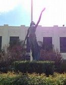 """A few months later, Loy's """"Inspiration"""" figure was temporarily removed from the sculpture group and transported aboard the battleship Nevada for a Memorial Day pageant in which """"Miss Myrna Williams"""" participated.[15] Fountain of Education can be seen in the opening scenes of the 1978 film Grease."""