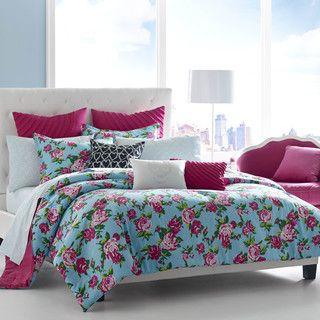 Betsey Johnson Betsey's Boudoir Cotton 3-piece Comforter Set | Overstock.com Shopping - The Best Deals on Teen Comforter Sets