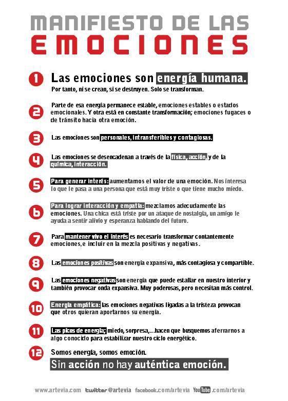 * 12 ideas importantes sobre las emociones *  vía @artevia