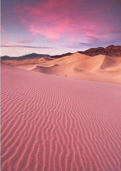 Desierto rosado en Jordania.