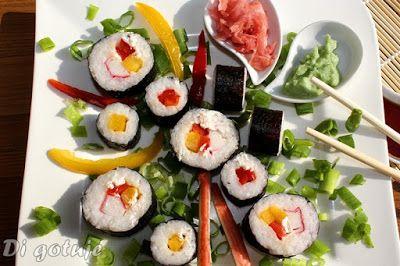 Di gotuje: Sushi maki z papryką i paluszkami surimi (sushi dl...