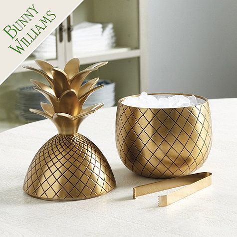 Bunny Williams Pineapple Ice Bucket