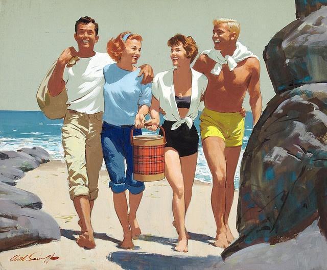 Beachnic party Arthur Sarnoff vintage #vintage