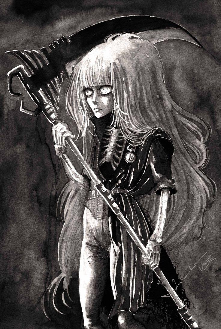 """Lady Death"" by Kashoka --- Ink paiting"