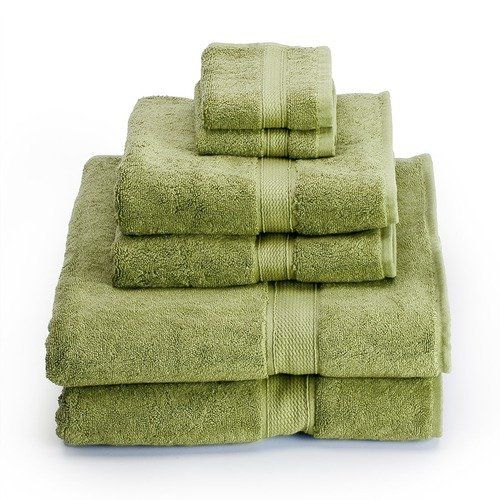 Maybe not these exact towels, but this shade of green along with tan and brown towels.
