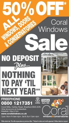 It's our 10 day sale from 1st  - 17th May:  * 50% off windows, doors and conservatories * No deposit * Nothing to pay till 2014  Offering great savings & value, from a company that's been local to you for almost 25 years. #doubleglazing #offers #conservatory