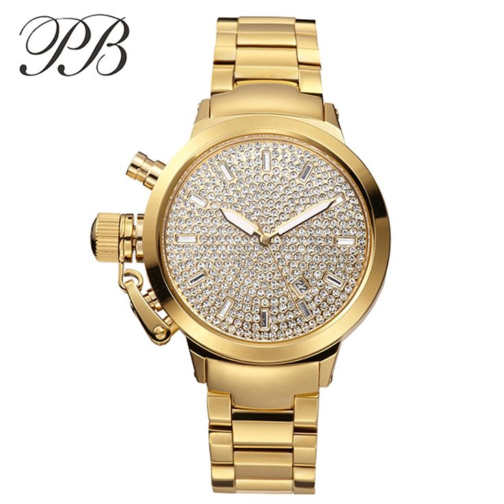 Find More Women's Watches Information about PB Brand Luxury Austrian Crystal Women Gold & Silver Stainless Steel Watch Top Ladies Diamond Quartz Dress Watches montre femme,High Quality dress candle,China watch cell Suppliers, Cheap dress for success men from YIKOO Watches Store on Aliexpress.com