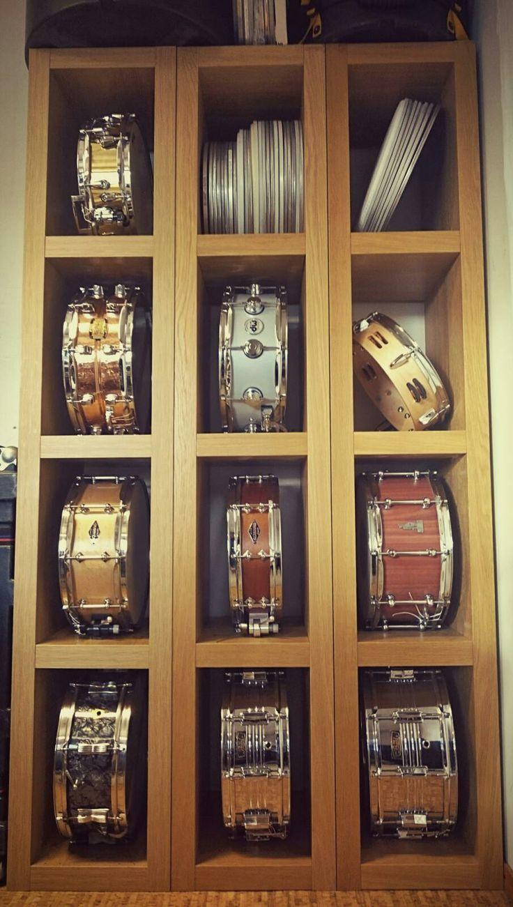 Great idea for drum storage and display.  Found on DrumForumOnline.