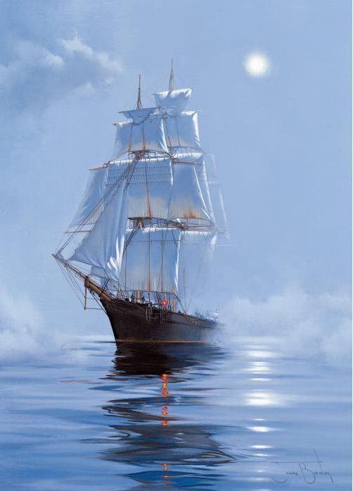 Brereton James. Картины маслом море