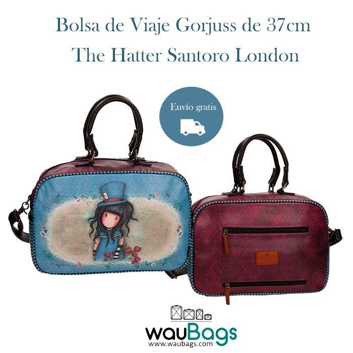 """Y os seguimos presentando cositas de la nueva colección de viaje """"The Hatter"""" de Gorjuss y hoy le toca el turno a la Bolsa de Viaje de 37cm., perfecta para tus escapadas cortas o para llevar tus artículos de uso diario.  Además, dispone de banda trasera para poderla acoplar a nuestras maletas Gorjuss!!!  @waubags #gorjuss #santorolondon #nuevacoleccion #viaje #bolsa #maletas #escapadas"""